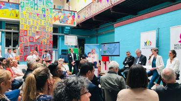 Présentation des Brussels & Urban Youth Games dans l'école fondamentale communale n°1 La Rose des Vents à Molenbeek le 24 avril.