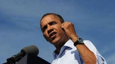 Le président Barack Obama à l'aéroport d'Asheville, en Caroline du Nord, le 17 octobre 2011