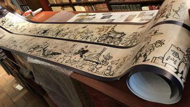 Le dessin d'Hergé qui sera mis aux enchères (reproduction)