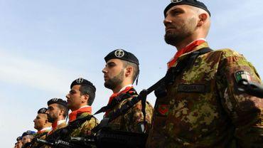 Des soldats italiens à Herat, en Afghanistan, le 18 février 2014