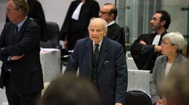 Le fondateur des laboratoires Servier, Jacques Servier, au tribunal de Nanterre le 21 mai 2013