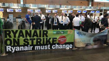 La grève à l'aéroport de Charleroi.