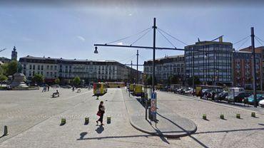 C'est près de la gare de Mons que les quatre hommes opéraient