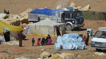 Des familles syriens au camp de réfugiés d'Arsal, le 18 février 2014 dans la vallée de la Bekaa, au Liban