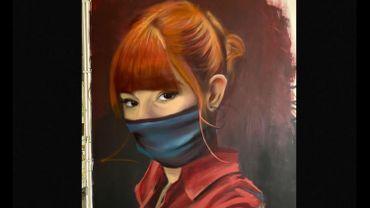 Allysson Jadin, vue par un artiste graffeur liégeois