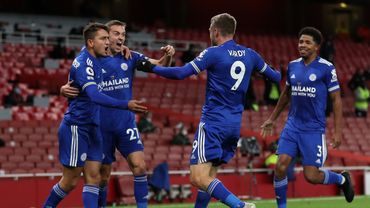 Leicester s'impose 0-1 contre Arsenal.