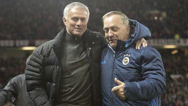 Dick Advocaat avec José Mourinho