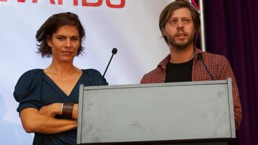 L'actrice Joke Devynck et Felix van Groeningen
