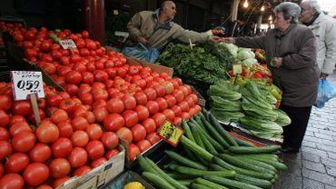 Le marché russe est l'un des principaux débouchés des producteurs grecs de fruits et légumes .