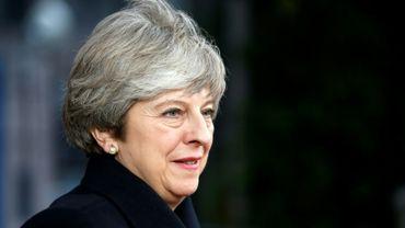 La Première ministre Theresa May arrive à un Sommet à Bruxelles, le 14 décembre 2017