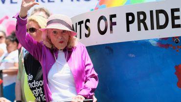 Edith Windsor à la Gay Pride de New York.