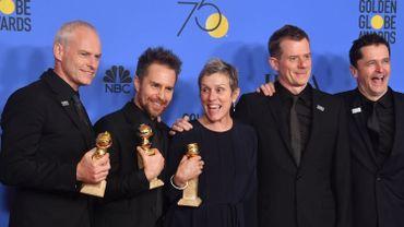 """Martin McDonagh, Sam Rockwell, Frances McDormand, Graham Broadbent et Peter Czernin ont été récompensés pour """"3 Billboards - Les panneaux de la vengeance"""""""
