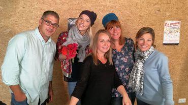 Avec Lionel Mertens et la styliste Murielle Goddet
