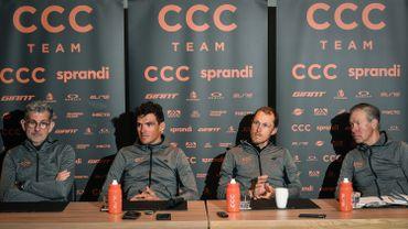 L'équipe CCC de Greg Van Avermaet en grande difficulté financière licencie tout son personnel, à l'exception des coureurs.