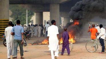 Des feux dans la rue à Kano le 8 juin 2014