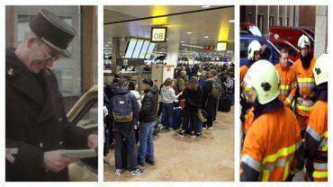 Grèves du zèle des douaniers à Hensies en 74, des policiers de Zaventem en 2020, des pompiers de Vaux-sous-Chèvremont en 2007