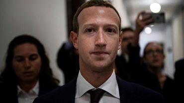 Le patron-fondateur de Facebook Mark Zuckerberg au Congrès américain où il s'est rendu le 19 septembre 2019 pour s'entretenir en privé avec plusieurs élus