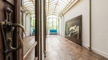 La somptueuse verrière de l'hôtel Frison, chef d'oeuvre de Victor Horta.