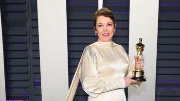 L'actrice Olivia Colman ici aux Oscars, a été distinguée par Elizabeth II