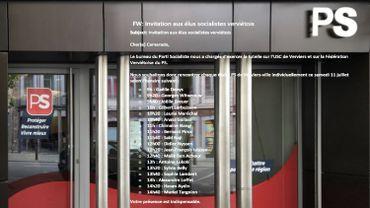 """Le PS """"canal officiel"""" convoque élus et responsables des deux bords"""