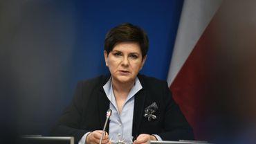 La première ministre polonaise Beata Szydlo lors du sommet européen des 9 et 10 mars dernier