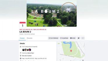 """Facebook supprime la page de la """"Boum2"""", d'autres manoeuvres pour freiner la participation affirme l'organisateur"""