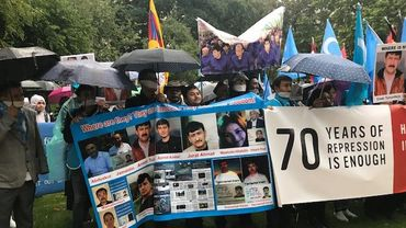 Une manifestation contre les violences politiques chinoise rassemble 400 personnes à Bruxelles