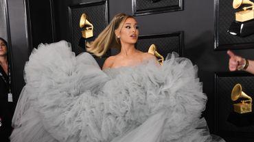 Ariana Grande était éblouissante dans une robe imposante faite de tulle signée Giambattista Valli. Los Angeles, le 26 janvier 2020.