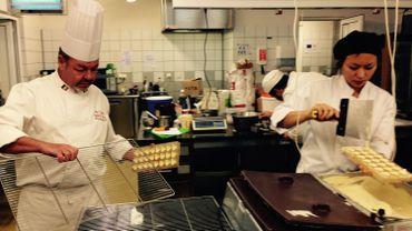 Atelier chocolaterie proposé par l'asbl de formation Epicuris à Villers-le-Bouillet
