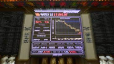 L'indice Ibex 35 de la Bourse de Madrid chute, le 20 juillet 2012