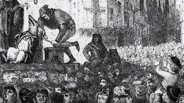 Gravure représentant l'exécution de la truie de Falaise