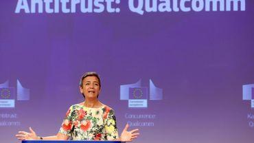 La commissaire européenne à la Concurrence, Margrethe Vestager, lors d'une conférence de presse à Bruxelles, le 18 juillet 2019