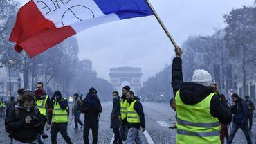 Les gilets jaunes lors de leurs actions à  Paris