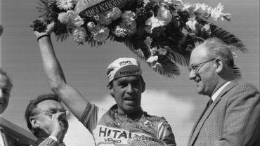 Claudy Criquielion lors de sa victoire au Tour des Flandres