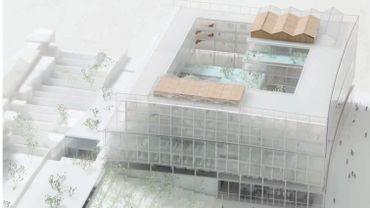 L'administrateur général de la RTBF a dévoilé les plans du nouveau quartier MediaPark, réalisé par MDW Architecture et le bureau V+ Vers Plus de Bien Être.