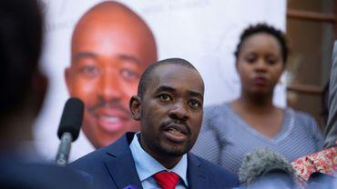 L'opposant et perdant de la présidentielle au Zimbabwe, Nelson Chamisa, Harare, 3 août 2018