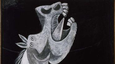"""Etude pour """"Guernica"""" (Tête de cheval) par Pablo Picasso, Paris, 2 mai 1937"""