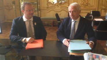 Jean-François Henrotte, président du centre d'arbitrage, et François Dembour, bâtonnier du barreau de Liège