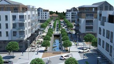 Les plans du nouveau quartier à Genval