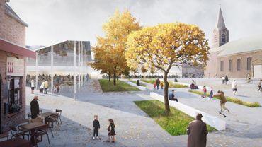 Le projet prévoit l'aménagement d'une Grand-Place, plus vaste et conviviale que les espaces actuels