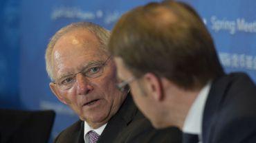 Le ministre allemand des Finances, Wolfgang Schäuble, le 16 avril 2016 à Washington (États-Unis).