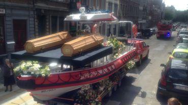 Liège: beaucoup d'émotion aux funérailles des pompiers décédés à Tilff (1)
