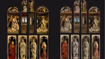 Le retable est composé au total de 24 panneaux réalisés par les frères Van Eyck.