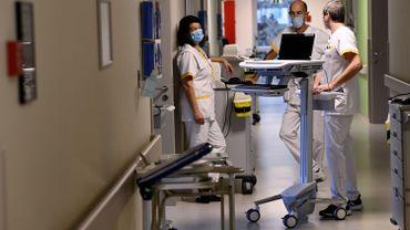 Services infirmiers à l'hopital Imelda à Bonheiden (près de Malines), le 2 novembre 2020