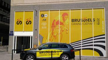 Le quartier general du grand départ 2019 dans le centre de Bruxelles