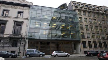 Le siège de la banque Degroof Petercam, rue de l'Industrie à Bruxelles.