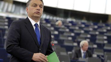 Le Premier ministre hongrois, Viktor Orban, au Parlement européen