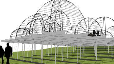 """Une vue d'architecte de la future """"folie végétal"""""""