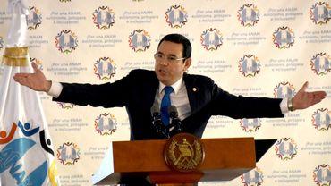 La levée de l'immunité du président du Guatemala soumise au Parlement