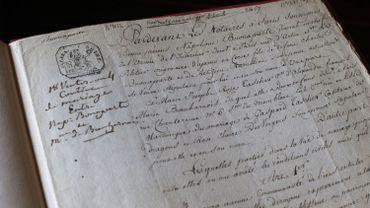 Le contrat de mariage entre Napoléon et Joséphine s'envole à 437.500 euros